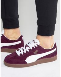 PUMA Liga Suede Sneakers In Red 34146602 for men