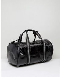 Fred Perry Classic Barrel Bag In Black for men