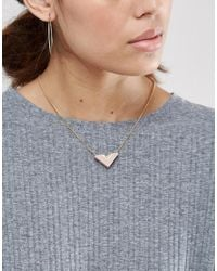 Wolf & Moon | Metallic Arrow Necklace | Lyst