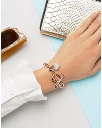 Juicy Couture - Metallic Pave Rose Gold Bracelet - Lyst