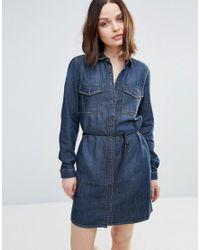 0d03d1a840 Only Henna Denim Shirt Dress in Blue - Lyst