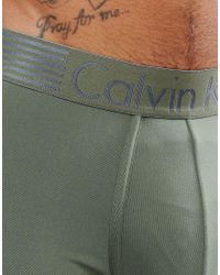 Calvin Klein - Green Low Rise Trunks Iron Strength Microfibre for Men - Lyst