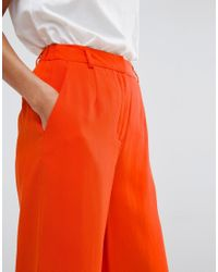 SELECTED - Orange Coral Culottes - Lyst