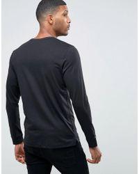 Jack & Jones - Black Grandad Long Sleeve Top for Men - Lyst