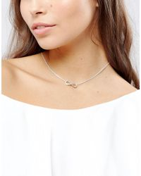 Pilgrim - Metallic Silver Plated Infinity Necklace - Lyst