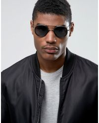 A.J. Morgan - Cocktail Round Sunglasses In Black for Men - Lyst