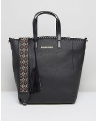 Silvian Heach | Black Tote Bag With Embroidered Strap | Lyst