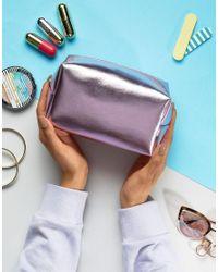 South Beach Pink Metallic Make Up Bag