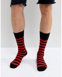 Dr. Martens - Stripe Socks Red for Men - Lyst