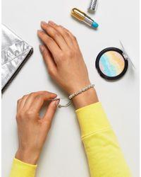 Estella Bartlett - Metallic Julitte Silver Plated Bracelet - Lyst
