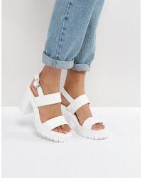 ASOS Black Tailor Chunky Sandals
