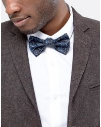 ASOS - Blue Bow Tie In Paisley Design for Men - Lyst