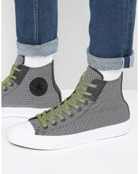 Converse - Chuck Taylor All Star Ii Hi Woven Plimsolls In Black 155536c - Lyst