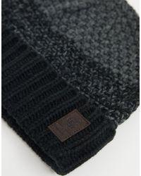 Черная/серая Шапка-бини -черный Only & Sons для него, цвет: Multicolor