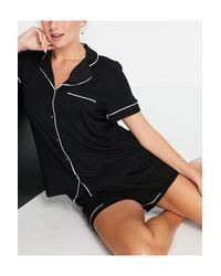 Черная Пижамная Рубашка С Отложным Воротником Из Экологичной Вискозы Cissi-черный Цвет Lindex, цвет: Black