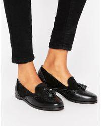 Park Lane Black Leather Mix Loafer