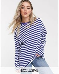 Reclaimed (vintage) Blue Inspired Oversized Sweatshirt
