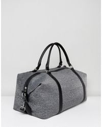Abercrombie & Fitch Gray Duffle Weekend Bag