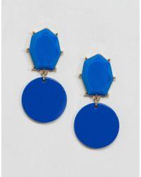 ASOS - Blue Color Pop Geo Jewel Earrings - Lyst