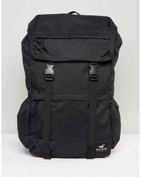 Hollister Backpack Roll Top In Black for men