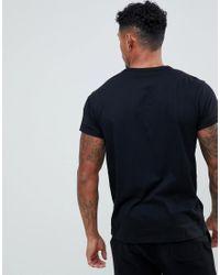T-shirt à manches retroussées avec poche River Island pour homme en coloris Black