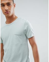 Tom Tailor T-shirt In Green Cut & Sew With Chest Pocket for men
