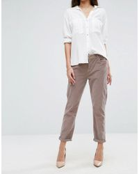 7 For All Mankind | Pink Cord Skinny Chino | Lyst
