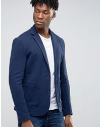 Jack & Jones Blue Premium Slim Blazer In Jersey for men