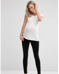 ASOS ''sculpt Me'' Premium Jean Jegging In Black With Under The Bump Waistband