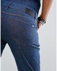 G-Star RAW Blue Slim Denim Jumpsuit