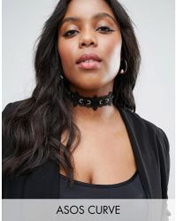 ASOS Black Lace Up Choker Necklace