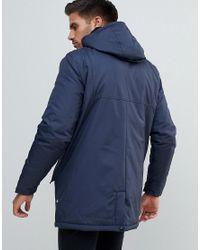Kronstradt Blue Kronstadt Hooded Coat for men