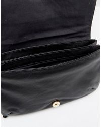 Urbancode Black Leather Fringed Bag