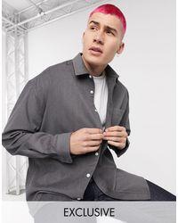 Темно-серая Вельветовая Рубашка -серый Collusion для него, цвет: Gray