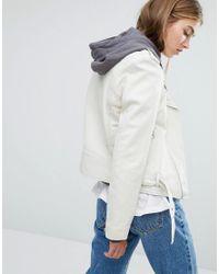 Schott Nyc White Leather Biker Jacket