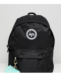 Hype Exclusive Backpack In Black With Teal Pom