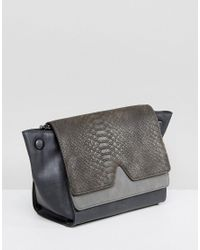 Nali - Gray Grey Snake Effect Across Body Bag - Lyst