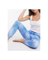 Джоггеры Для Дома С Принтом -синий Calvin Klein, цвет: Blue