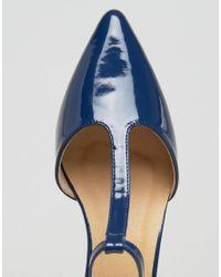 ASOS Blue Omari T Bar Shoes