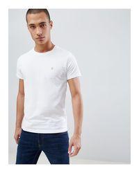 Camiseta blanca Farah de hombre de color White