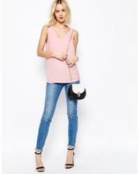 ASOS - Pink V Front & V Back Vest - Lyst
