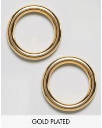 Gogo Philip - Metallic Gold Plated Hoop Earrings - Lyst