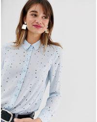 Warehouse Blue – es Hemd mit Sterneprint