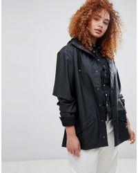 Rains Black Waterproof Jacket
