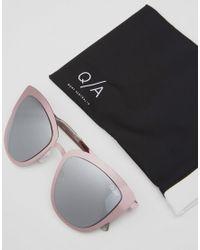 Quay - White Super Girl Sunglasses - Lyst