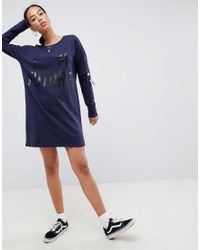 Noisy May Tall - Blue Long Sweater With Buckle Sleeves - Lyst