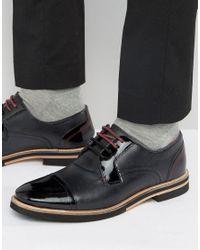 Ted Baker Braythe 2 Derby Shoes In Black Leather for men