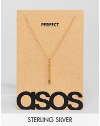ASOS - Metallic Sterling Silver Valentines Necklace With Match In Burnished Gold Plate for Men - Lyst