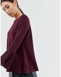 Блузка С Длинными Расклешенными Рукавами AX Paris, цвет: Purple