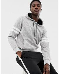 Sweat-shirt à capuche à enfiler avec bandes sur la manche - clair Jack & Jones pour homme en coloris Gray